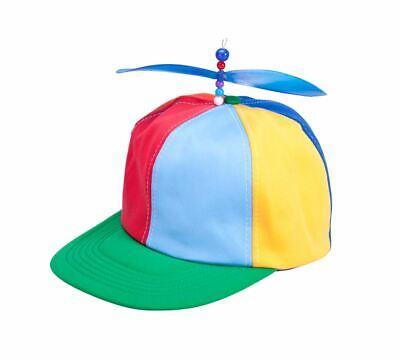 Unisex Tweedle Dum/Tweedle Dee Rainbow Helicopter Hat School Boy Fancy Dress Cap](Tweedle Dee Tweedle Dum Hats)