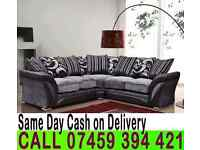 BRAND NEW FABRIC CORNER SOFA SHANNON ALSO AVAILABLE IN 3+2 SUITE IN BLACK/GREY, BROWN/BEIGE COLOURS