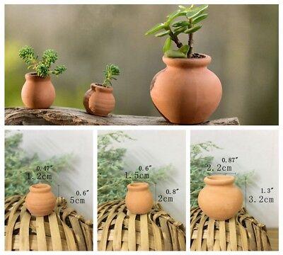 Mini Terra-cotta Planter Succulent Flower Pot Rural Style Home Office Decor (Mini Terra Cotta)
