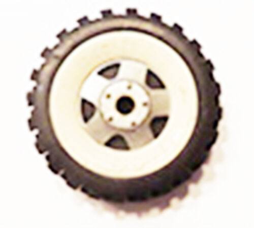 """Original white wall  tire for  Structo toy truck  2"""" diameter open in triangle"""