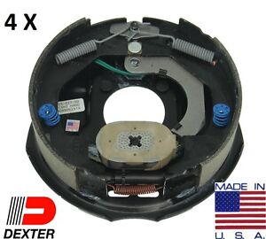 4-x-DEXTER-3500-Trailer-Axle-Brake-kit-10-x2-2-Electric-Backing-plate-Complete