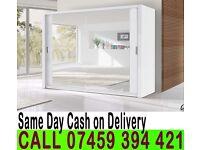A 2 Door Sliding Mirrored Cabinet Wardrob- Brand New in Black Brown Oak White Walnut colours