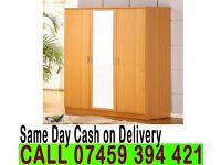 A 3 DOOR WARDROB WITH FULL MIRROR, DRAWERS, KEY- Brand New