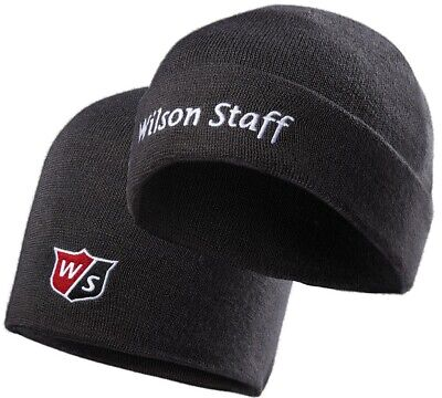 1124529123931 Wilson Staff Knitted Beanie Hat Cap Black - New 2019
