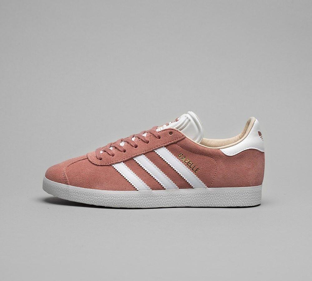 frío Cuña Preconcepción  Womens Adidas Gazelle Ash Pearl/White/Gold Trainers (SF1) RRP £74.99 | eBay
