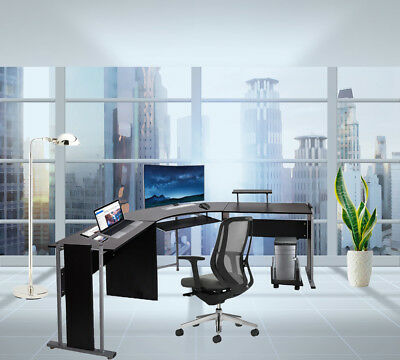Large L-shaped Office Deskremovable Computer Mainframe Holderkeyboard Frame