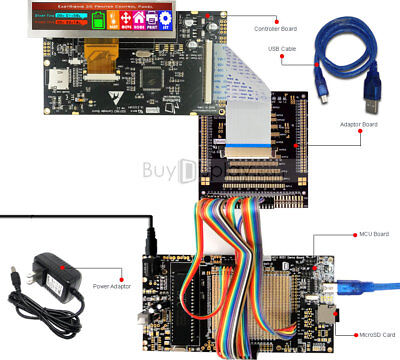 8051 Microcontroller Development Board Usb Programmer For 3.8tft Lcd Display