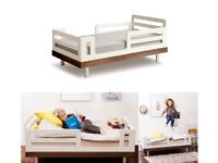 Oeuf classic toddler cot bed walnut OBO