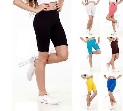 Damen Kurze Leggings Shorts Sport Radlerhose Baumwolle 36 38 40 42 44 46 mf7