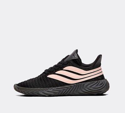 Junior Adidas Sobakov Modern Black/Clear Orange Trainer RRP £64.99