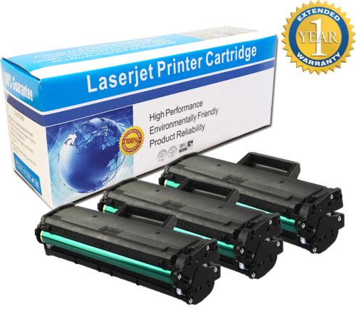 3-Pack//Pk Samsung MLT-D101S Black Toner Cartridge ML-2165W SCX-3405W SF760P