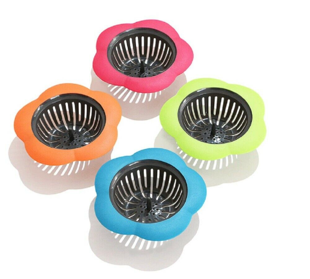 "4 Pcs Plastic Kitchen Sink Drain Strainer Filter Catching Food Particles 4.5"" Home & Garden"