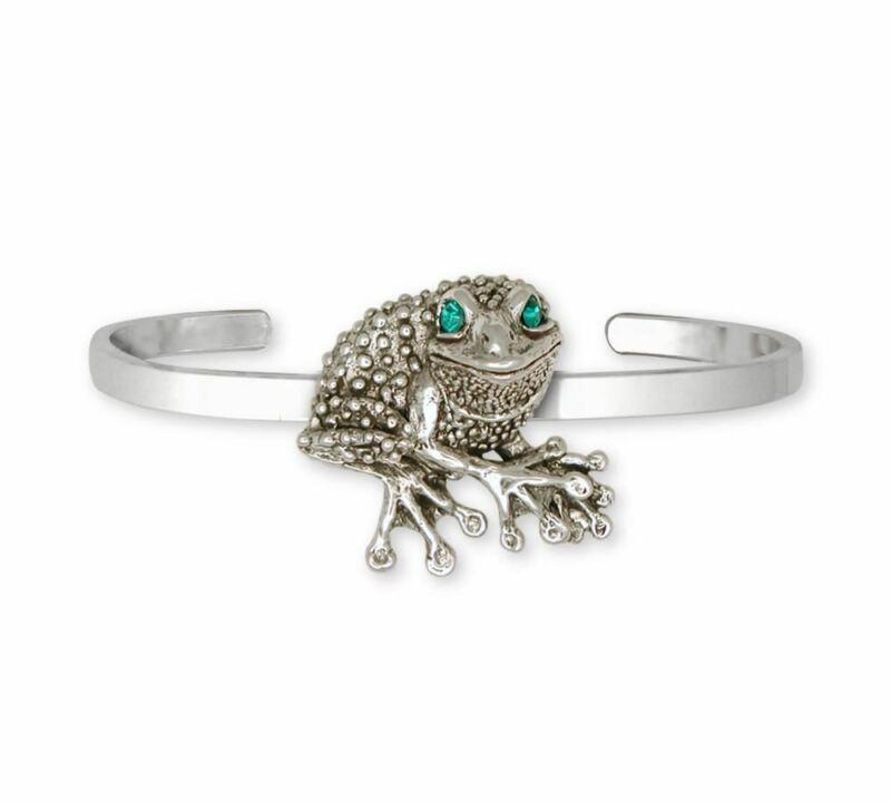 Frog Bracelet Jewelry Sterling Silver Handmade Frog Bracelet FG22-XBR