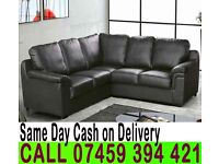 HIGH QUALITY CORNER SOFA IN LEATHER OR JUMBO FABRIC MATERIAL, BLACK BROWN COLORS