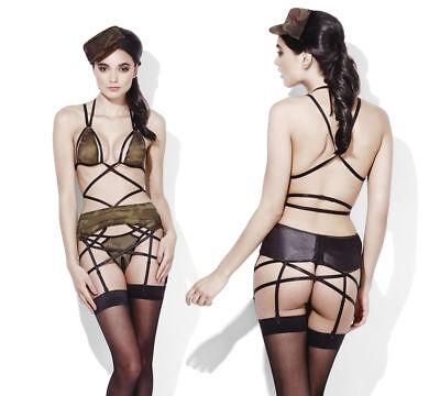 mmes Lingerie Tendance Costume Sexy Jeu de Rôle Fever Armée (Armee Costums)