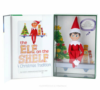 The ELF ON THE SHELF a Christmas Tradition Boy Doll & Book NEW BOXED SET