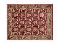 Persian style rug from Pottery Barn. Size - 12f x 9f. Fiber - 100% wool.