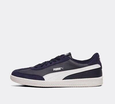 Mens Puma Astro Cup Leather/Suede Navy/White Trainers RRP £54.99