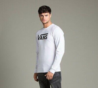 MENS VANS CLASSIC LONG SLEEVE WHITE T-SHIRT (SA2) RRP £29.99