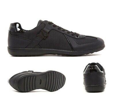 Mens Versace Jeans Logo Black Trainer (PF3) RRP £97.99