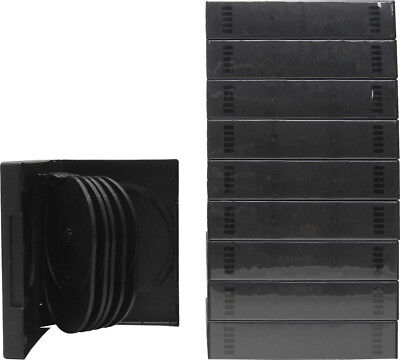 (10) DV12R39BK 12 Capacity DVD Cases Multi Box Set Replacements Empty Disc 39MM
