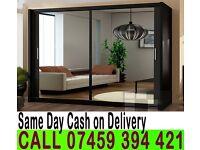 A Berlin 2 Door Sliding Mirrored Wardrob- Brand New in White Oak Black Wenge Walnut colors