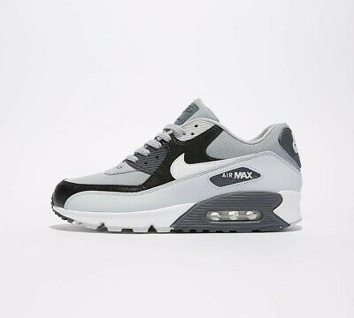 Mens Nike Air Max 90 Essential Wolf Grey/Pure White Trainers (NF1) RRP £99.99