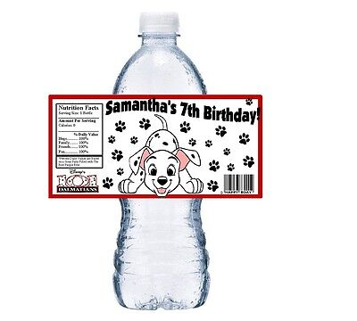 101 Dalmatians Party Supplies ((20) 101 DALMATIANS PERSONALIZED BIRTHDAY PARTY FAVORS WATER BOTTLE)