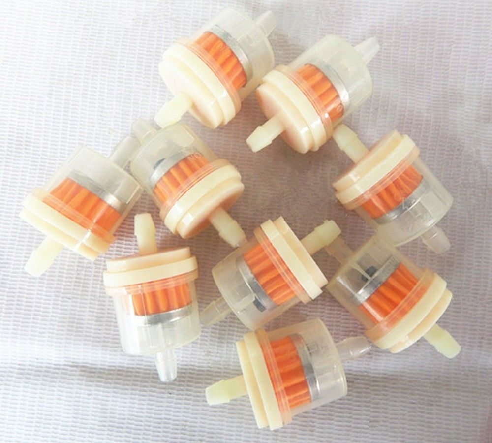 10 X Motorcycle Small Engine Gasoline Fuel Filters Clear Inline Gas 2 Of 8 1 4 6mm