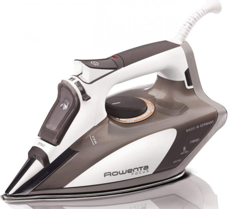 Focus 1700 Watt Steam Iron with 400-Hole Stainless Steel Sol