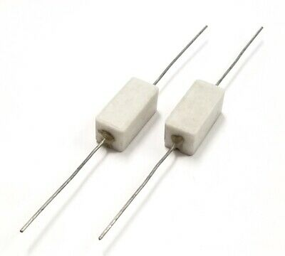 Lot Of 2 165 Ohm 5 Watt Wirewound Ceramic Power Resistors 5w