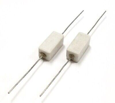 Lot Of 2 15 Ohm 5 Watt Wirewound Ceramic Power Resistors 5w