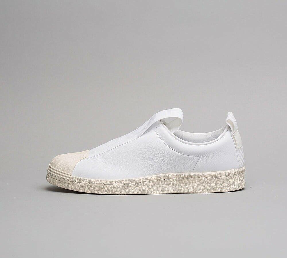 Details zu Womens Adidas Superstar Slip On WhiteOff White Trainers (SF1) RRP £64.99