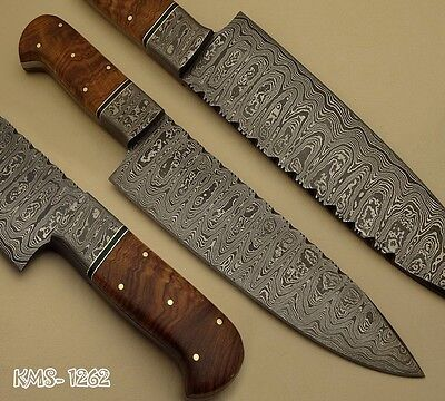 BEAUTIFUL HAND MADE DAMASCUS STEEL HUNTING / KITCHEN / CHEF KNIFE BY KNIFE MAKER