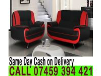 SOFA SUITE IN QUALITY ITALIAN PU LEATHER 3 AND 2 SEATER-BRAND NEW