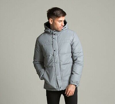 Mens Jack & Jones Core Roger Refletive/Grey Quilted Jacket (PAC) RRP £64.99
