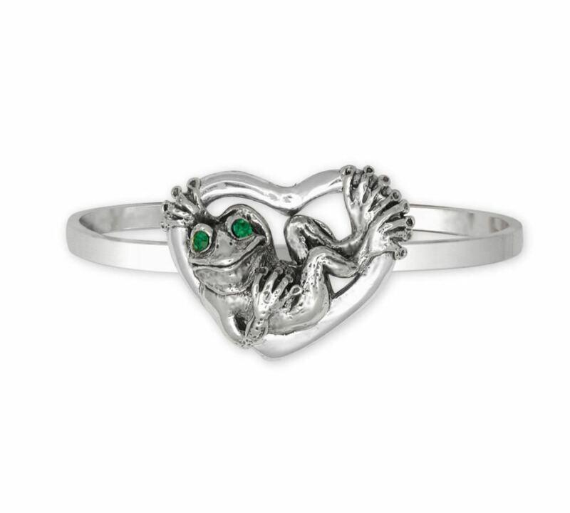 Frog Bracelet Jewelry Sterling Silver Handmade Frog Bracelet FG24-XCB