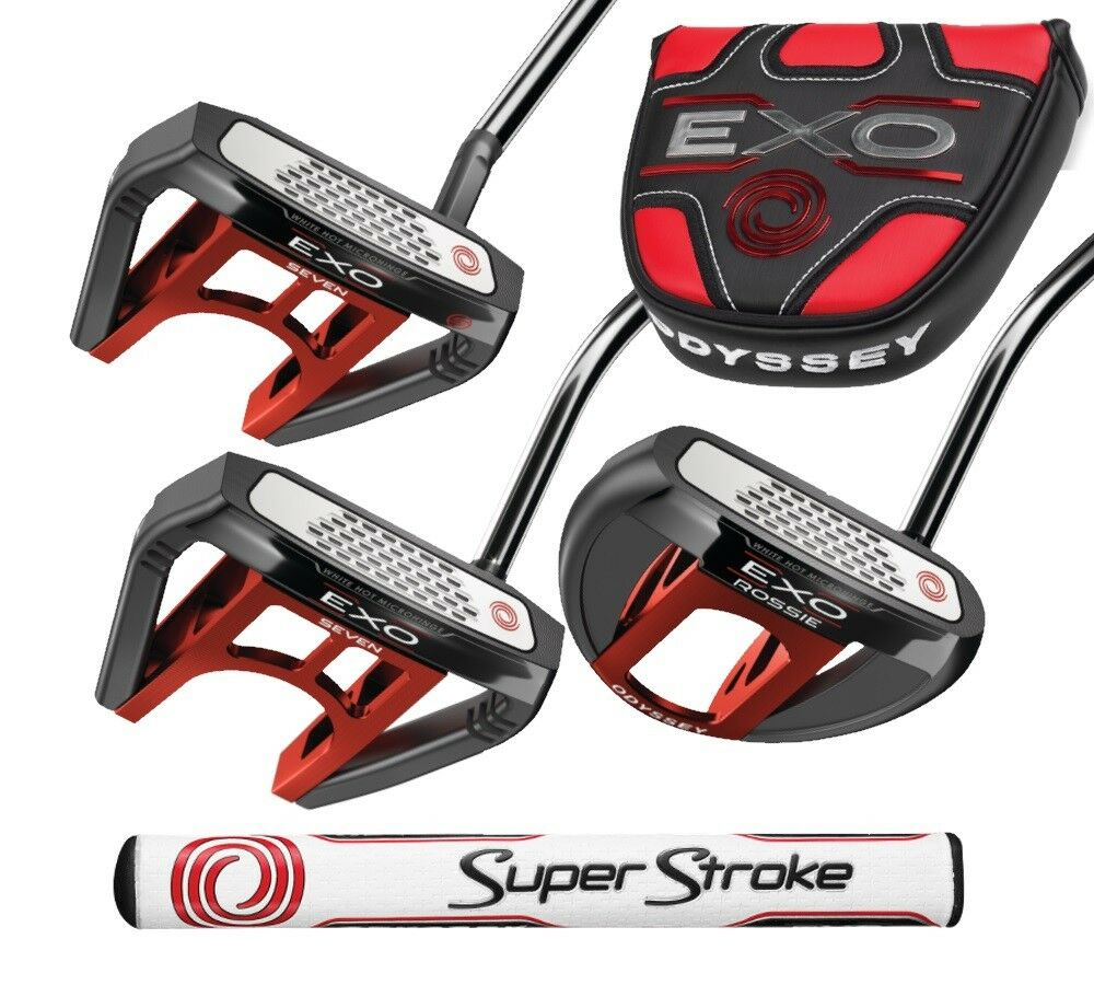 New 2018 Odyssey Exo Putter with SuperStroke 2.0 - Choose St