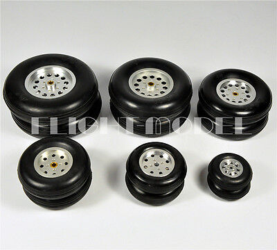 Hub Solid Rubber Wheels - 1 Pair 100% Solid Rubber Wheels Aluminum Hub 3.5inch 88.9mm For RC plane/Model