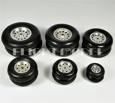 Hub Solid Rubber Wheels - 1 Pair 100% Solid Rubber Wheels Aluminum Hub 4.5inch/114.3mm For RC Plane/Model