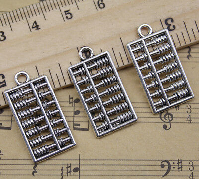 Lot 6~50pcs Retro Jewelry Making DIY Cute Abacus Alloy Charm Pendant 25x13mm