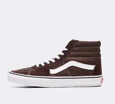 Mens Vans SK8-HI Chocolate Torte / True White Trainers (PF1) RRP £69.99