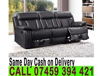 CHICAGGO 3 2 AND 1 SEATER LEATHER RECLINER SOFA SUITES IN BLACK WHITE RED AND BROWN COLOR