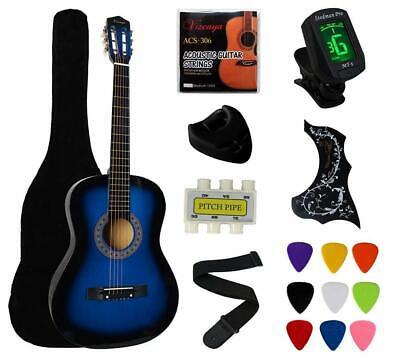 Blue Acoustic Starter Guitar - YMC 38