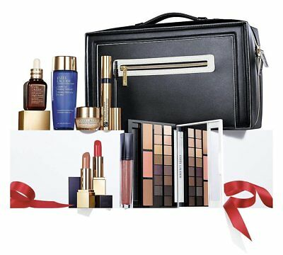 Estee Lauder BLOCKBUSTER Makeup Skincare Kit Gift Set - SMOKY NOIR/MORDEN NUDE  (Nude Makeup Kit)