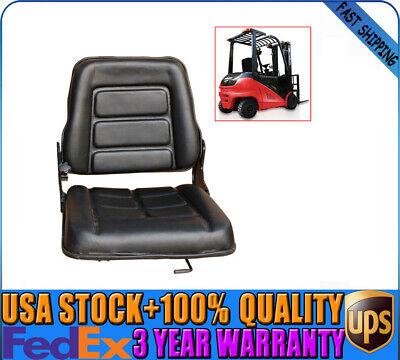 Tractorforkliftexcavation Folding Forklift Seat Black For Nissan Toyota