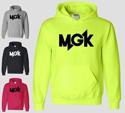 Mgk Hoodie Machine Gun Kelly Lace Up Est  Music Cleveland Hooded Sweatshirt Neon