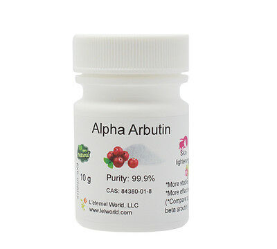 100% NATURAL ALPHA ARBUTIN POWDER, 99.9%, 10g,SKIN LIGHTENING, Holiday Sale