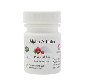 100% NATURAL ALPHA ARBUTIN POWDER, 99.9%, 10g,SKIN LIGHTENING, Holiday Sale