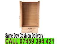 A ALREADY FITTED 2 DOOR WARDROB CUPBOARD WITH MIRROR/DRAWERS- Brand New PRE ASSEMBLED